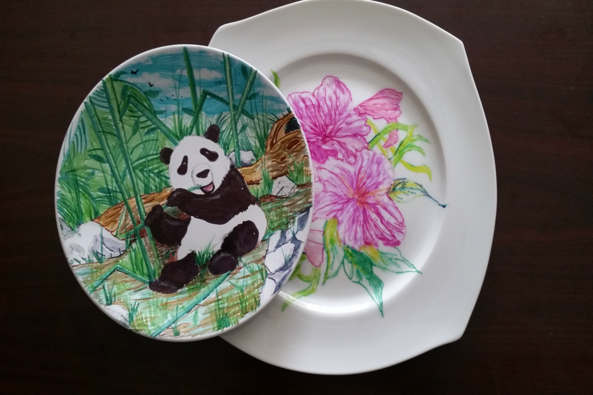 Art Kits for Pickup, Presented by Anne's Treasures- Ceramic Plates